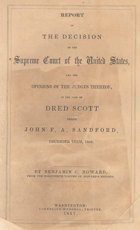 an analysis of the dred scott decision in landmark decisions by the us supreme court The main clauses of the fourteenth amendment are: 393 body marijuana essay the on of effects (1857), also known simply as the dred scott case, was a landmark decision by the united states.