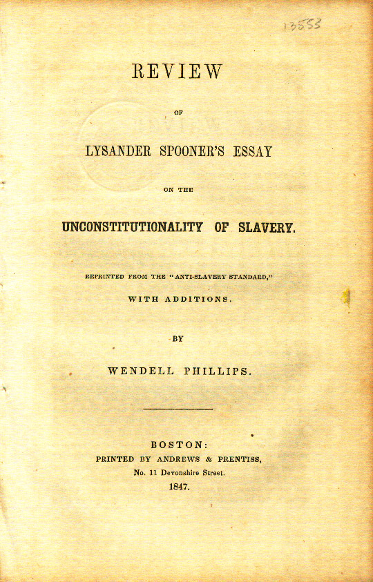 Essays on slavery in the 1800s